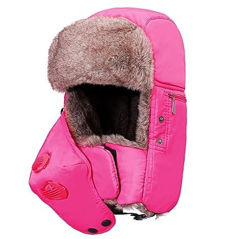 Cappello da sci invernale Trooper Caldo spesso impermeabile caccia trooper  cappello unisex antivento sci passamontagna con ecb6eee31fc5