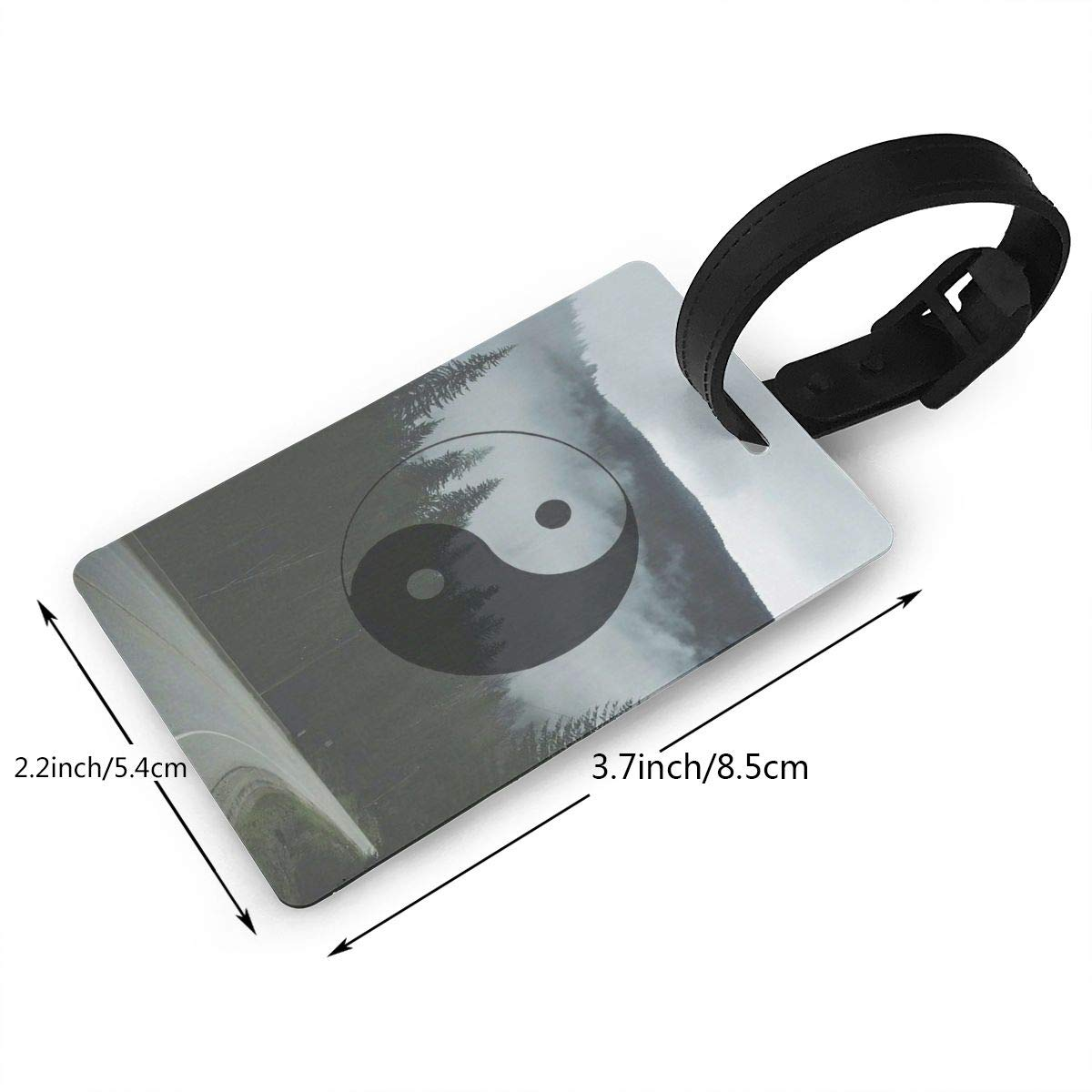 2 Pack Luggage Tags Yin Yang Baggage Tag For Suitcase Bag Accessories