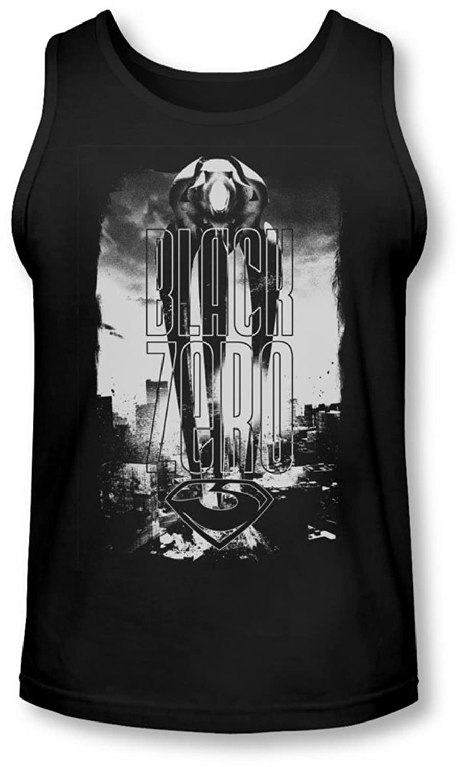 Man Of Steel - Mens Black Zero Tank-Top