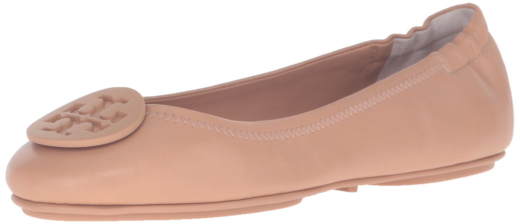Tory Burch Minnie Travel Ballet Flat, Light Oak (9.5)