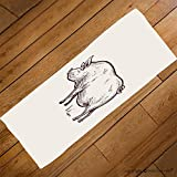 VROSELV Custom Towel Soft and Comfortable Beach Towel-pig series of farm animals graphics hand drawing sketch vintage engraving st Design Hand Towel Bath Towels For Home Outdoor Travel Use 27.6''x11.8''