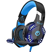 VersionTECH. Gaming Headaset for PS4 Xbox One, G2000 Gaming Headphones with Noise Cancelling Mic,LED Light for Laptop PC
