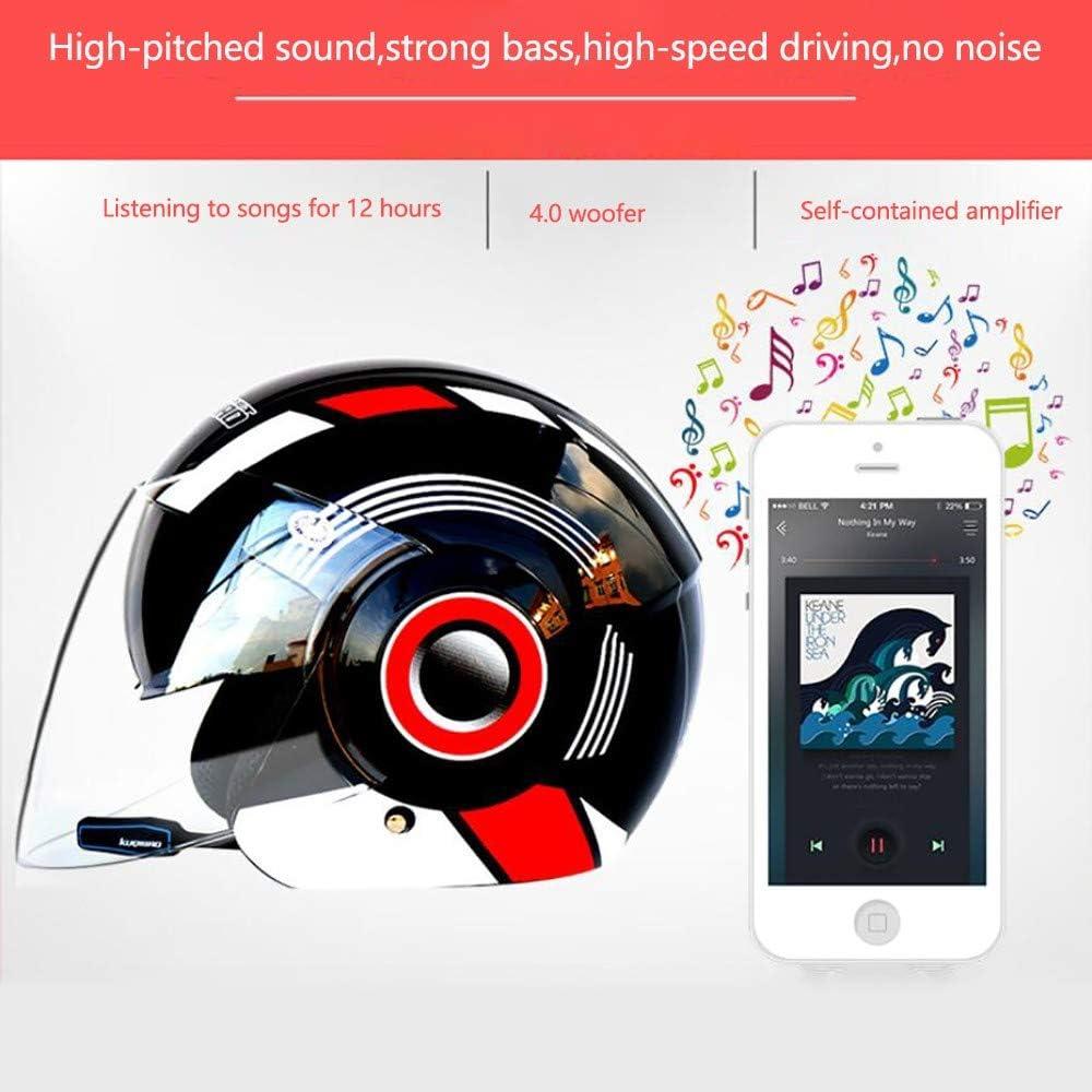 Casques Motocross Microphone /à R/éduction De Bruit r/éponse Automatique Casque Open Face AVCE Double Visi/ère Anti-bu/ée pour Adulte TKTTBD Casques Moto Jet Bluetooth