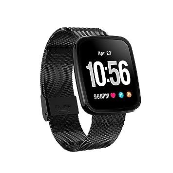 V6 reloj inteligente pulsera impermeable ritmo cardíaco presión arterial Smartwatch al aire libre Modo Fitness Tracker ...
