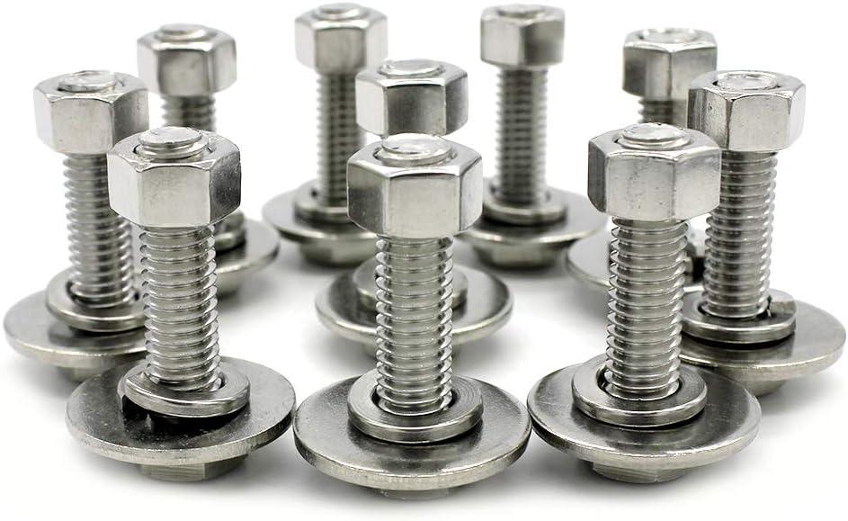 "5//16/""-18 304 Stainless Steel Hex Nut Fastener 10pcs for Screw Bolt"