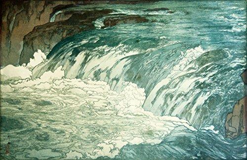Japanese Art Print Rapids by Yoshida Hiroshi Color 1