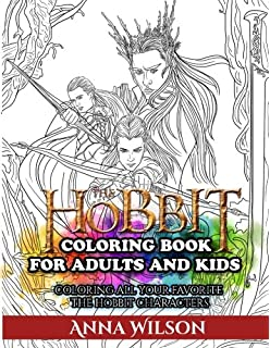 the hobbit coloring book for adults and kids coloring all your favorite the hobbit characters - Lord Of The Rings Coloring Book