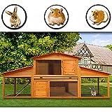 Hasenstall Kaninchenstall Hasenkäfig Meerschwein Käfig Freilauf Holz Stall - ein tolles Zuhause für Ihr Haustier