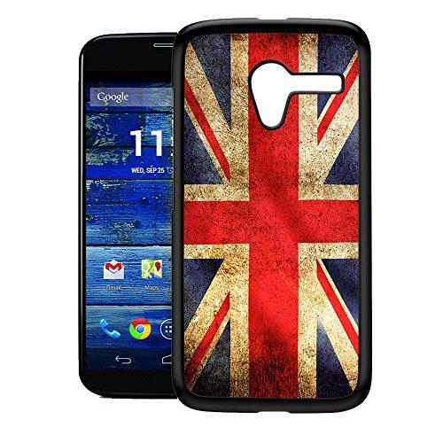 [TeleSkins] - UK Flag Grunge - Moto X Case - Ultra Durable HARD PLASTIC Protective Snap On back Case / Cover for Moto X. [Fits Moto X (1st Gen) for Teen Girls]