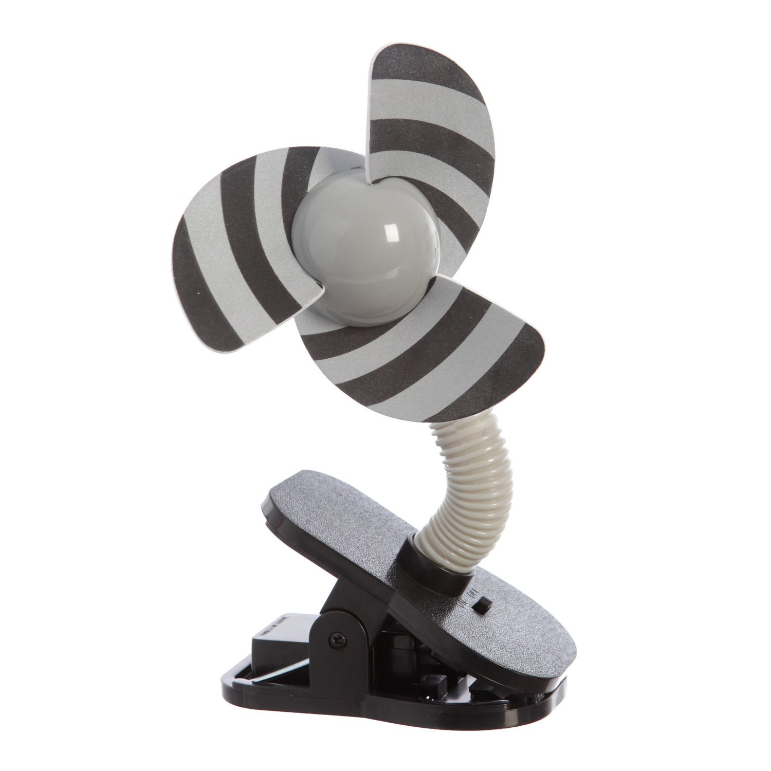 Portable and Easy to Use Clip-On Fan in Silver/Black