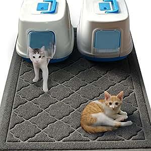 Easyology Jumbo Size Cat Litter Mat - 47 x 36 Inch (Gray)