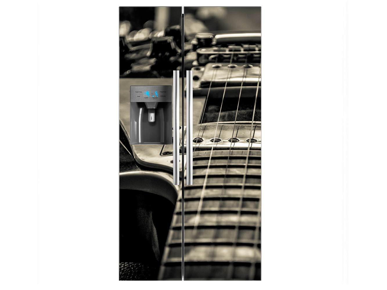 Vinilo Frigorífico Americano Guitarra Eléctrica | 91x179cm | Varias Medidas | Pegatinas de Nevera Económicas y Elegantes | Vinilo Nevera: Amazon.es: Hogar