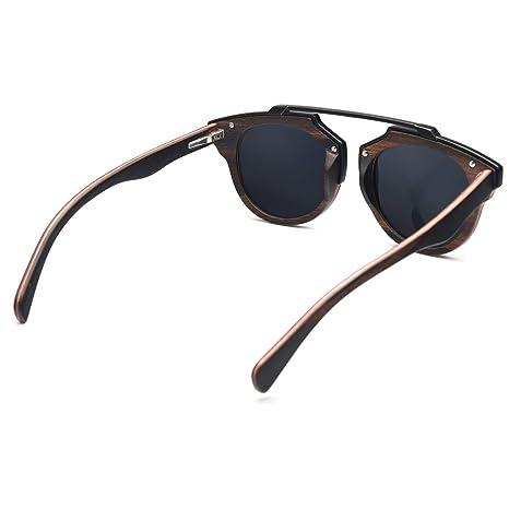 Amazon.com: Gafas de sol de madera, Ablibi Steampunk ...