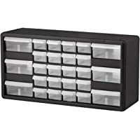 $26 » Akro-Mils 26 Drawer 10126, Plastic Parts Storage Hardware and Craft Cabinet, (20-Inch W x 6-Inch D x 10-Inch H), Black Pack of 2