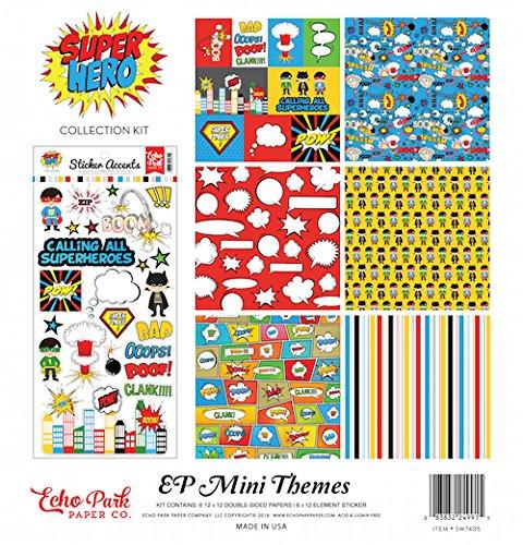 Superhero Scrapbook Paper (Echo Park Paper Company SW7405 Superhero Collection)
