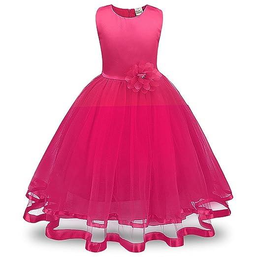 Ropa de bebé ❀ ❀ jyjm Flores niña Princesa dama de honor Pageant ...