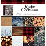 American Crafts 12 x 12 Paper Pad Rustic Christmas (12 Pack)