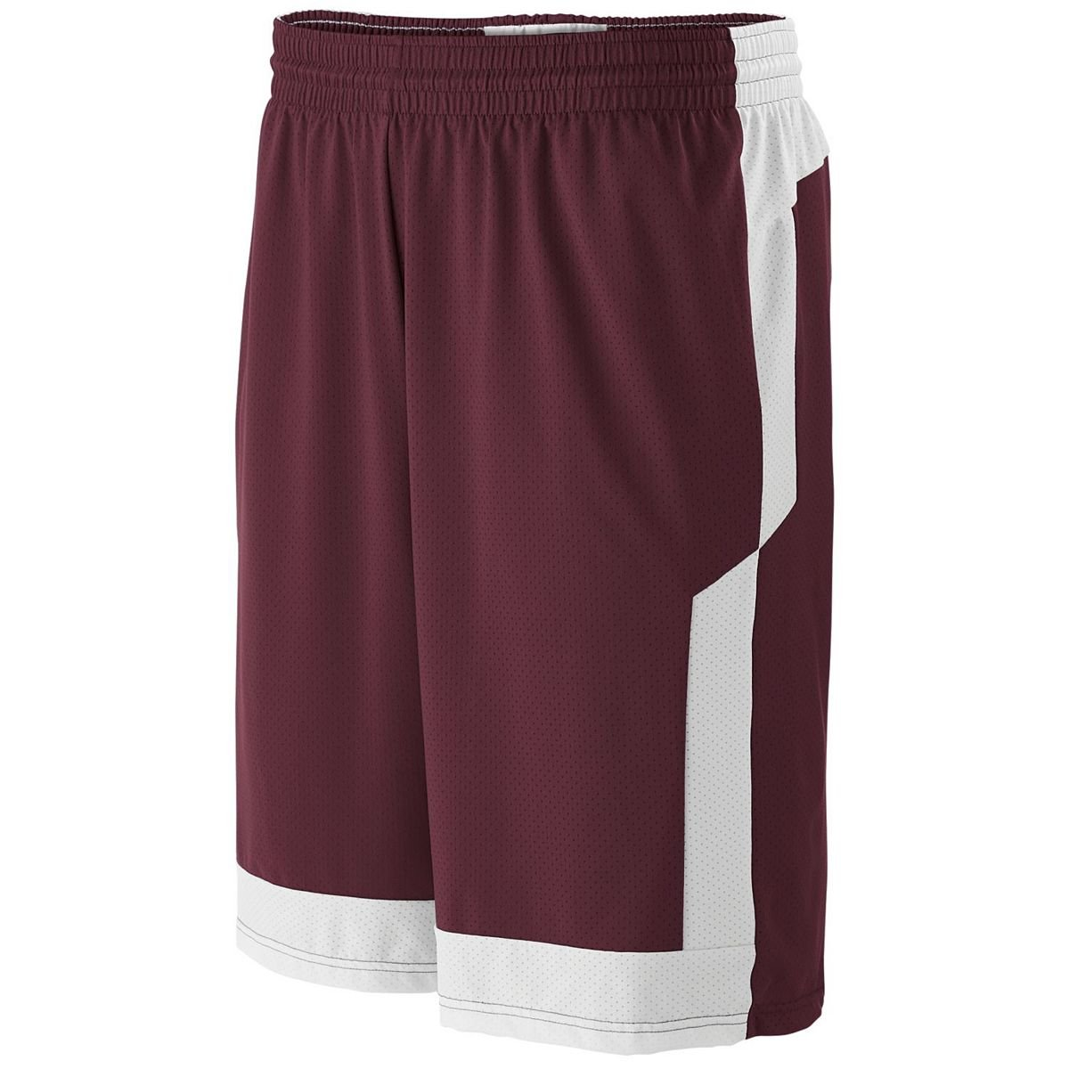 High Five Youth Switch Up Reversible Short S Maroon//White