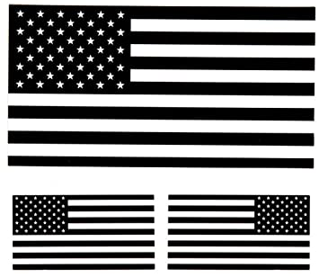 "Reflective Subdued American Flag Sticker 3"" X 5"" Tactical  Military Flag USA Decal Great"