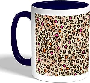 Leopard skin Printed Coffee Mug, Blue Color