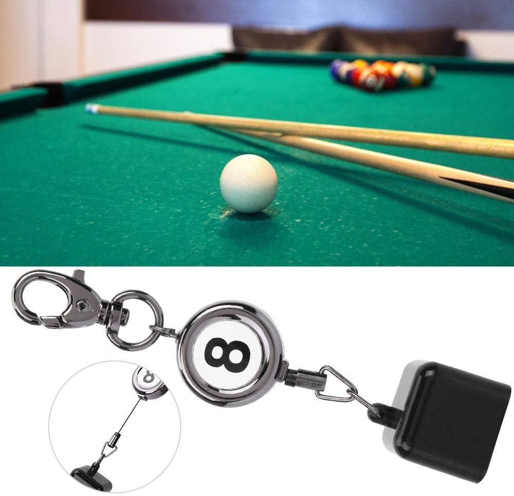 Billar Pool Cues Chalk Holder, Portátil retráctil Billar Snooker Dibujo Llavero Accesorio: Amazon.es: Deportes y aire libre
