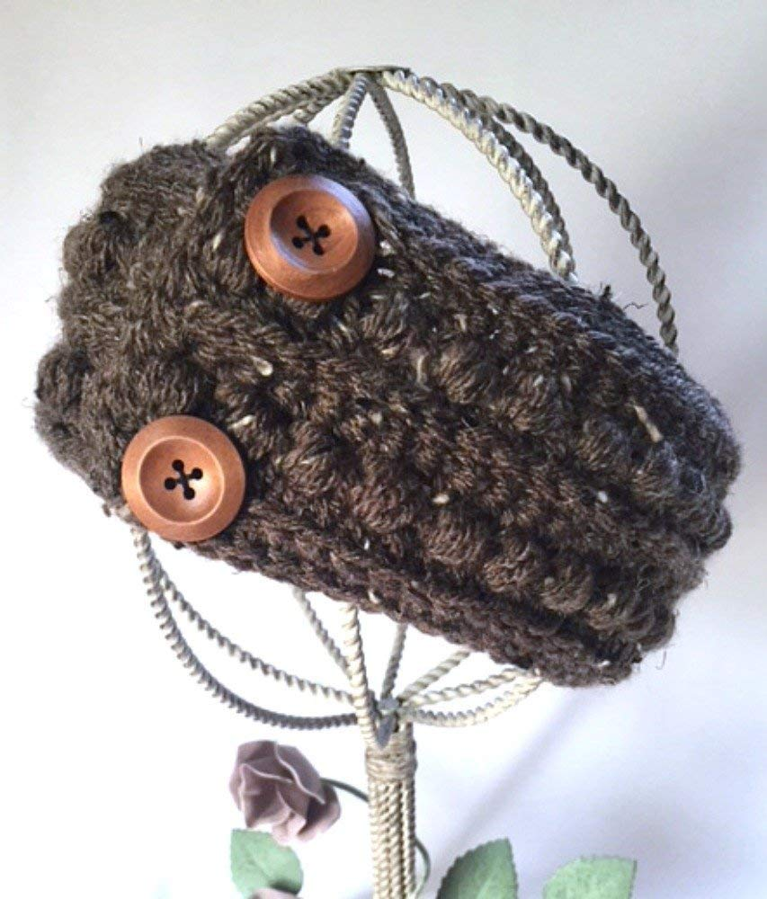 Amazoncom Handmade Ear Warmer Headband Brown Aran Fisherman Tweed