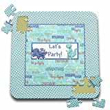 Beverly Turner Birthday Invitation Design - Lets Party. Two Dinosaurs with Words, Adventure, Bones, Discovery - 10x10 Inch Puzzle (pzl_276141_2)