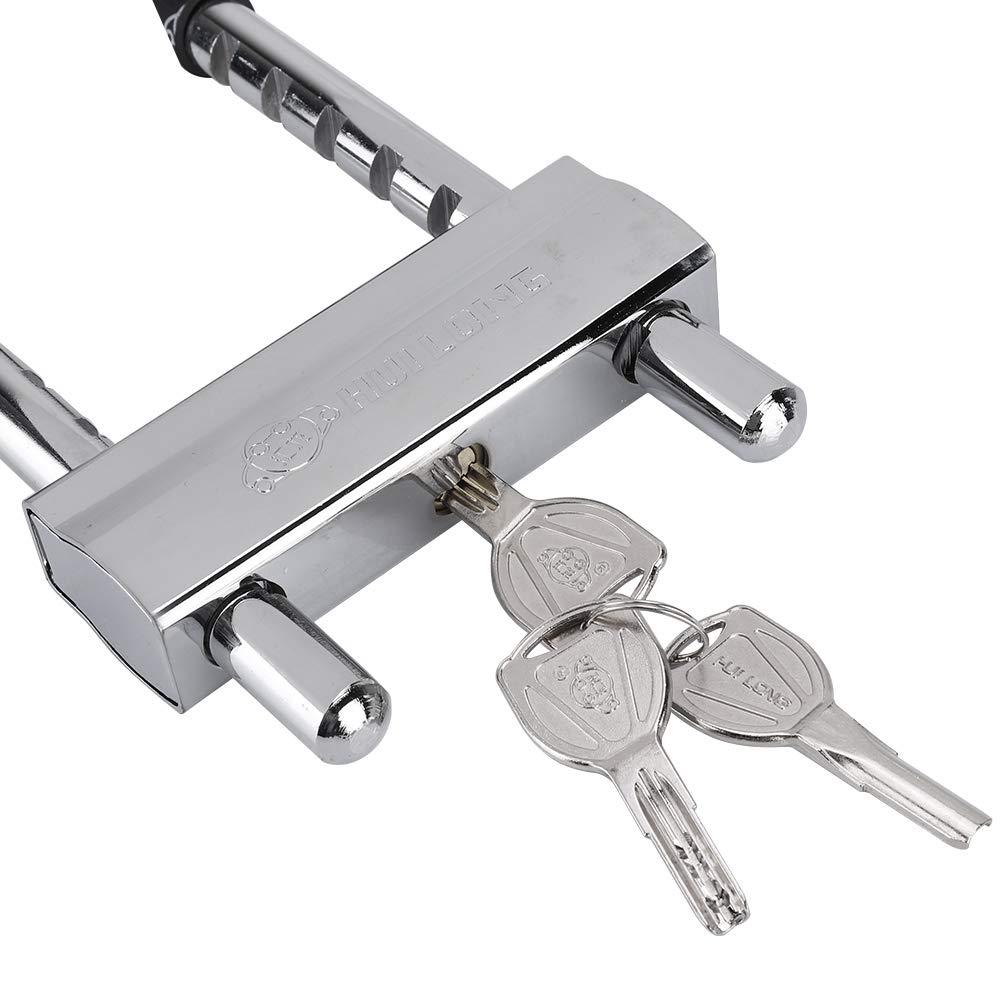 Extra Largo Anti-hidr/áulico Cerradura de Puerta para Uso en el hogar//Oficina//Tienda Cerradura de la Puerta Anti-Robo Bloqueo Tipo U con Alta Resistencia