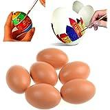 Soccik Ei Osterei Ostern Stopfei Ei Handbearbeitet Eier zum Basteln Eier 6 Stück Weiß