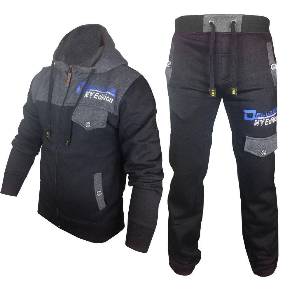 Premier Mens Tracksuit Set Fleece Hoodie Top Bottoms Jogging Joggers Regular skt
