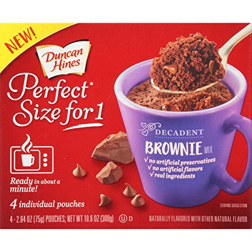 Duncan Hines Perfect Size, Chocolate Brownie, 10.6 Ounce