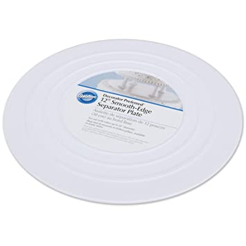Wilton 302-4104 Smooth Edge Separator Plate for Cakes 12-Inch  sc 1 st  Amazon.com & Amazon.com: Wilton 302-4104 Smooth Edge Separator Plate for Cakes ...