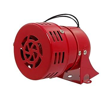 Alarma Sirena de Metal, motorizada, rojo – AC 220 V