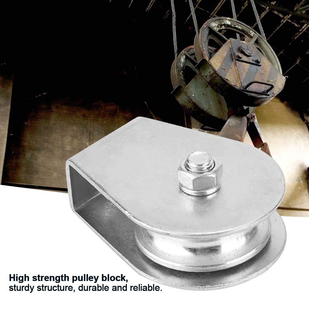 # 03 Liukouu 0.3 toneladas que cargan la rueda de elevaci/ón del rodillo de la polea del eslab/ón giratorio del bloque de polea /única para la cuerda de alambre