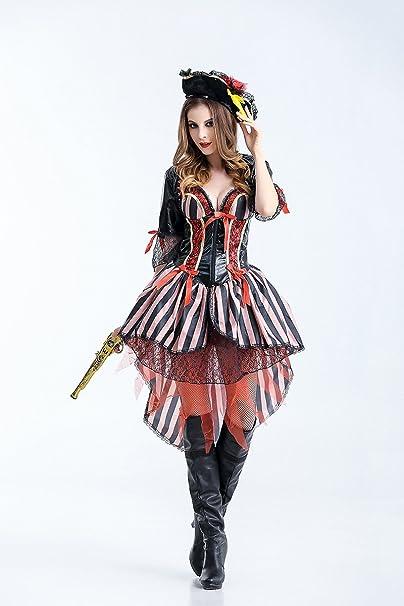 Ruanyi Disfraces de piratas Halloween Pirata de lujo Película ...