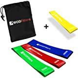 WODFitters Mini Bands Set - 4 Exercise and Workout Resistance Bands for Muscle Activation, Arms and Legs