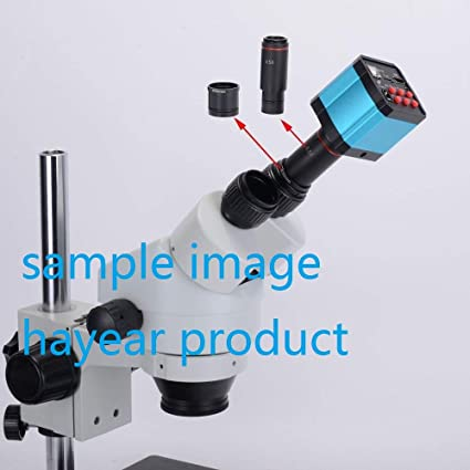 HAYEAR 16MP 1080P HDMI Industry Camera 0.5X Reduction Eyepiece Lens 23.2mm Mounting with 30mm 30.5mm Ring Adapter Apply for Stereo Biological Microscope