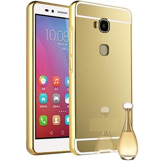 8 opinioni per HUANGTAOLI Bumper di Metallo in Alluminio Custodia a Specchio Cover per Huawei
