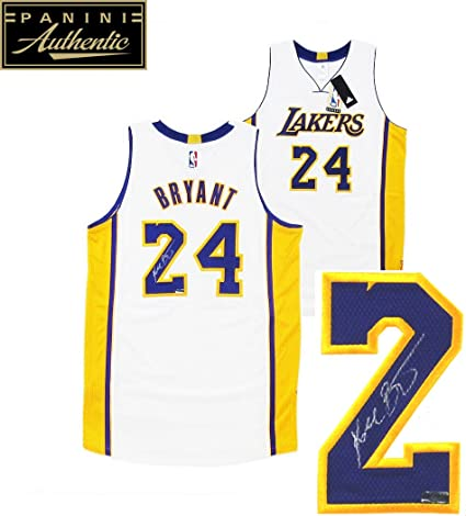 7065de019a38 Kobe Bryant Autographed Signed Los Angeles Lakers White 2014 Adidas  Authentic NBA Jersey - Panini