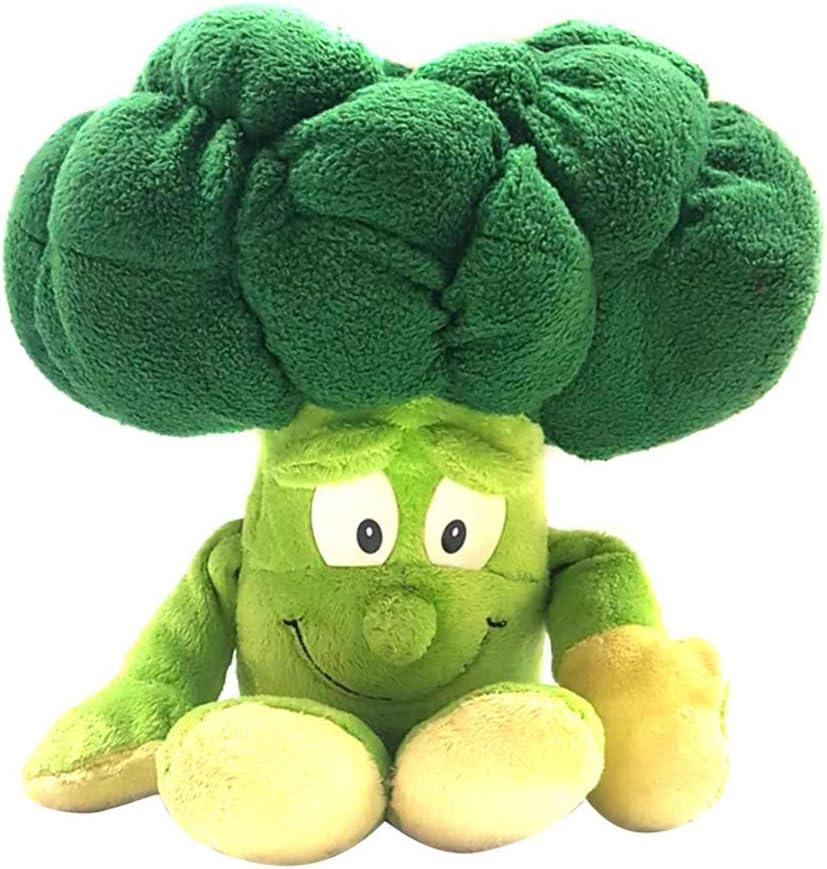 Ztoma Peluche, 1 Pieza Frutas Verduras Muñeco de Peluche, con Relleno Muñeca para Niños Infantil - Broccoli