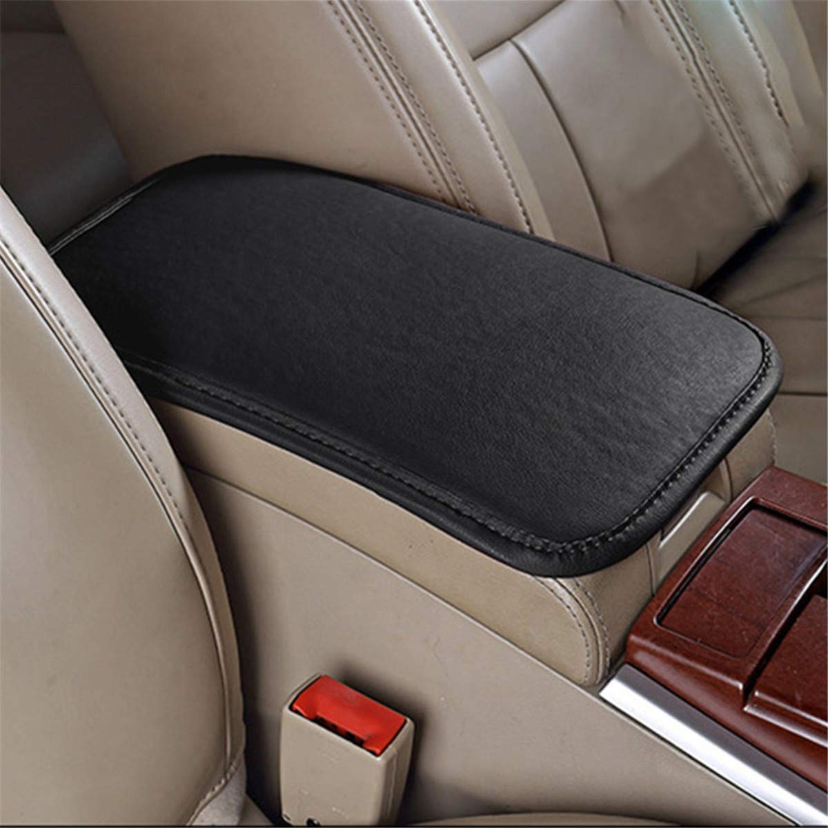 Center Console Armrest Protector Universal Car Armrest Cover LKXHarleya Car Center Console Cover Truck Car Accessories TM SUV PU Leather Auto Arm Rest Cushion Pads Fit for Most Vehicle