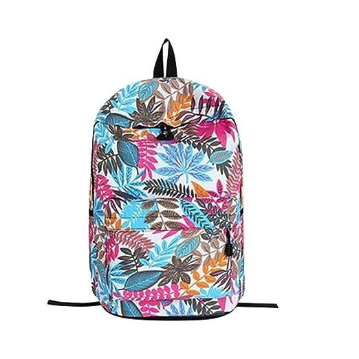 Amazon.com: Huphoon Teenage Backpack, Girls School Backpack Bag Leaves Printing Female Students Bags,Regreso a la temporada escolar Mochila (Purple): Office ...