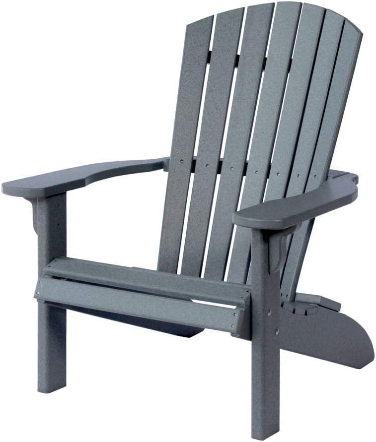 Poly Fan-Back Adirondack Chair, Dark Gray