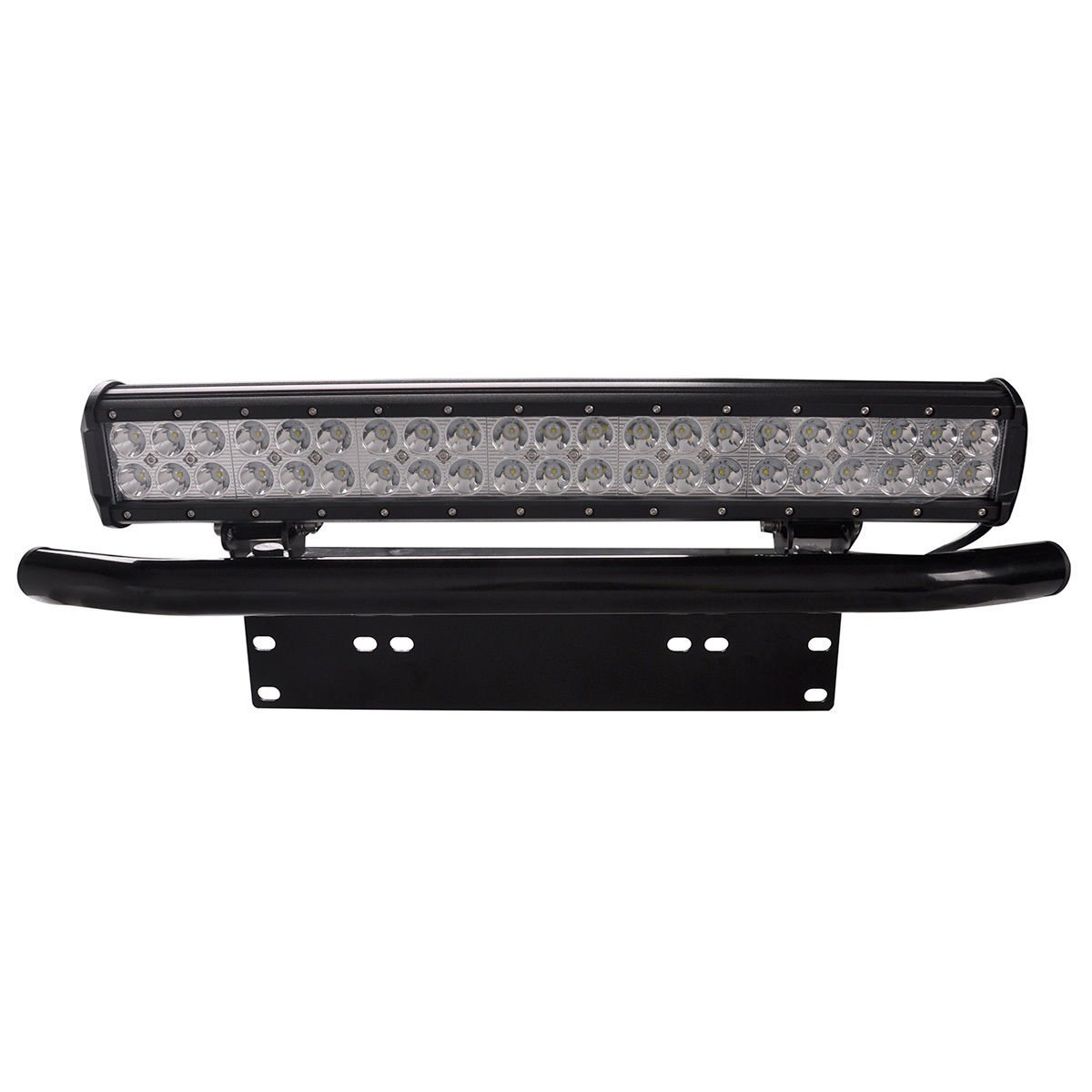 Northpole Light Universal License Plate Mounting Bracket with Front Bull Bar Bumper Frame for Off Road Jeep LED Work Light Bar