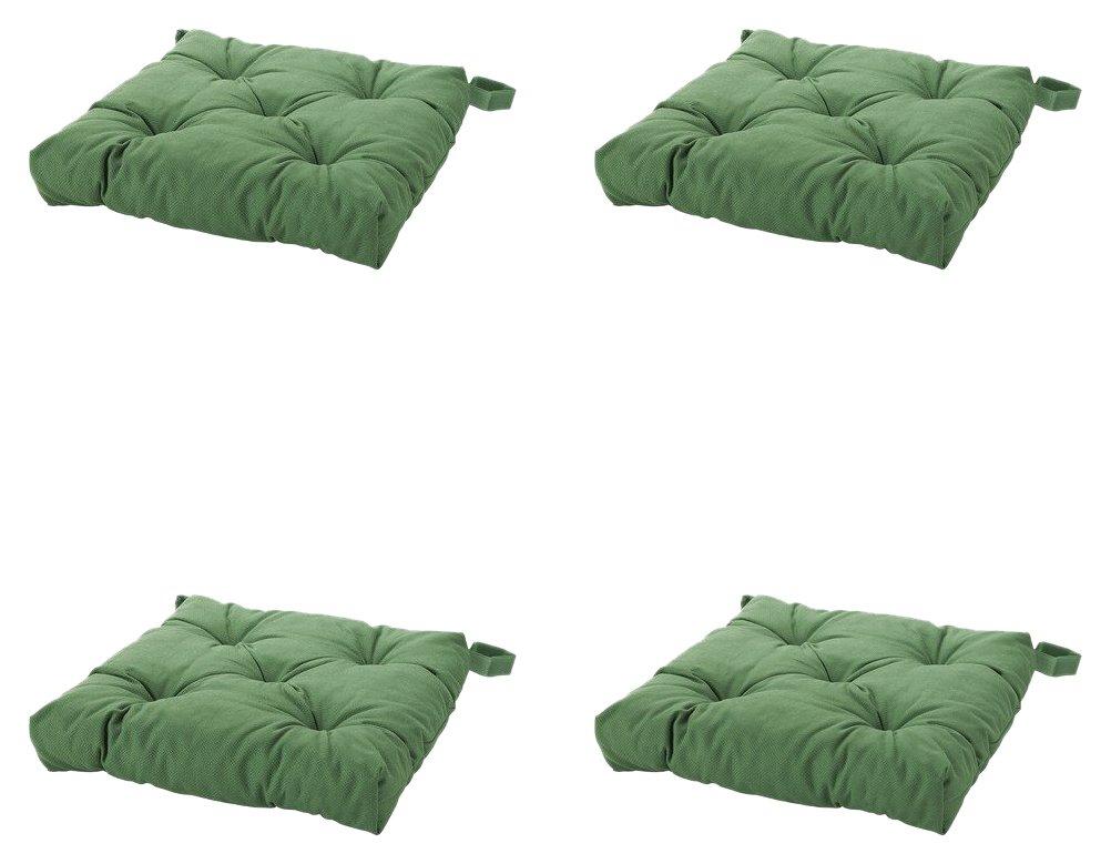 Amazon.com: thasaba IKEA MALINDA de la silla cojín, verde, 4 ...