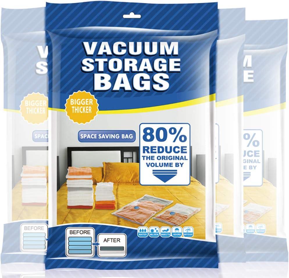 Yoleaf VacuumStorageBagsSpaceSaverBags80%MoreStorage,HandPumpVacuumSealerBagsforTravel,ClothingStorageBagVacuumSealBagsforClothesBlanketsPillows