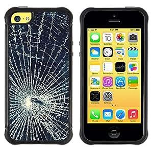 "Pulsar iFace Series Tpu silicona Carcasa Funda Case para Apple iPhone 5C , Glass Accidentes Web Shattered"""