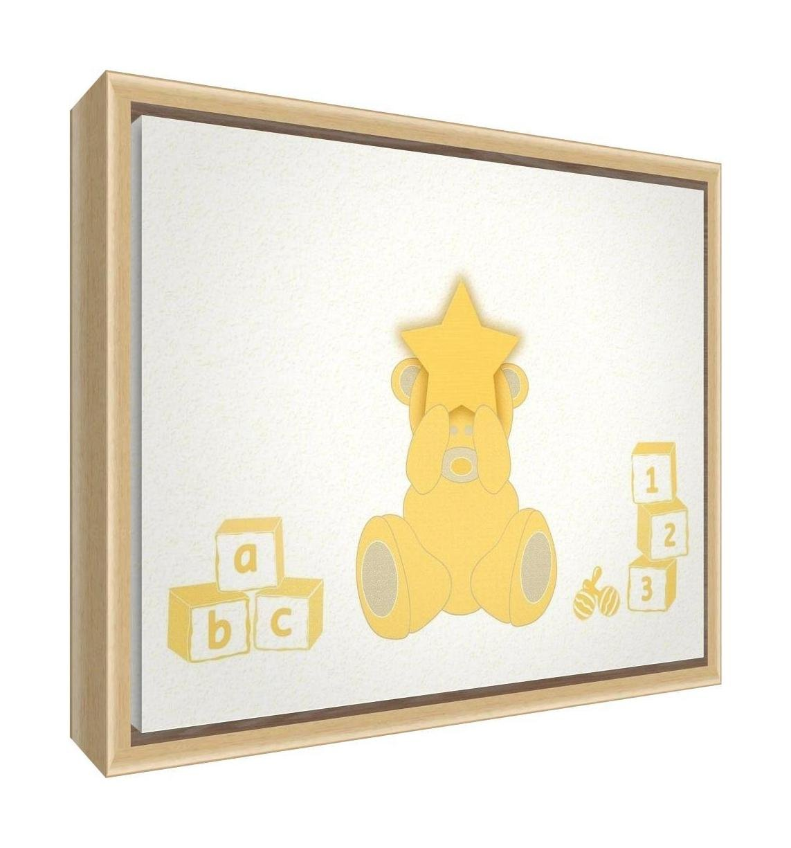 Feel Good Art Eco-Printed and Framed Nursery Canvas with solid ...