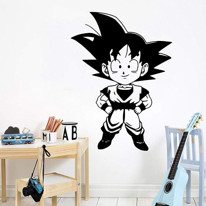 Exquisito Son Goku Tatuajes de Pared de Dibujos Animados Pvc Mural ...