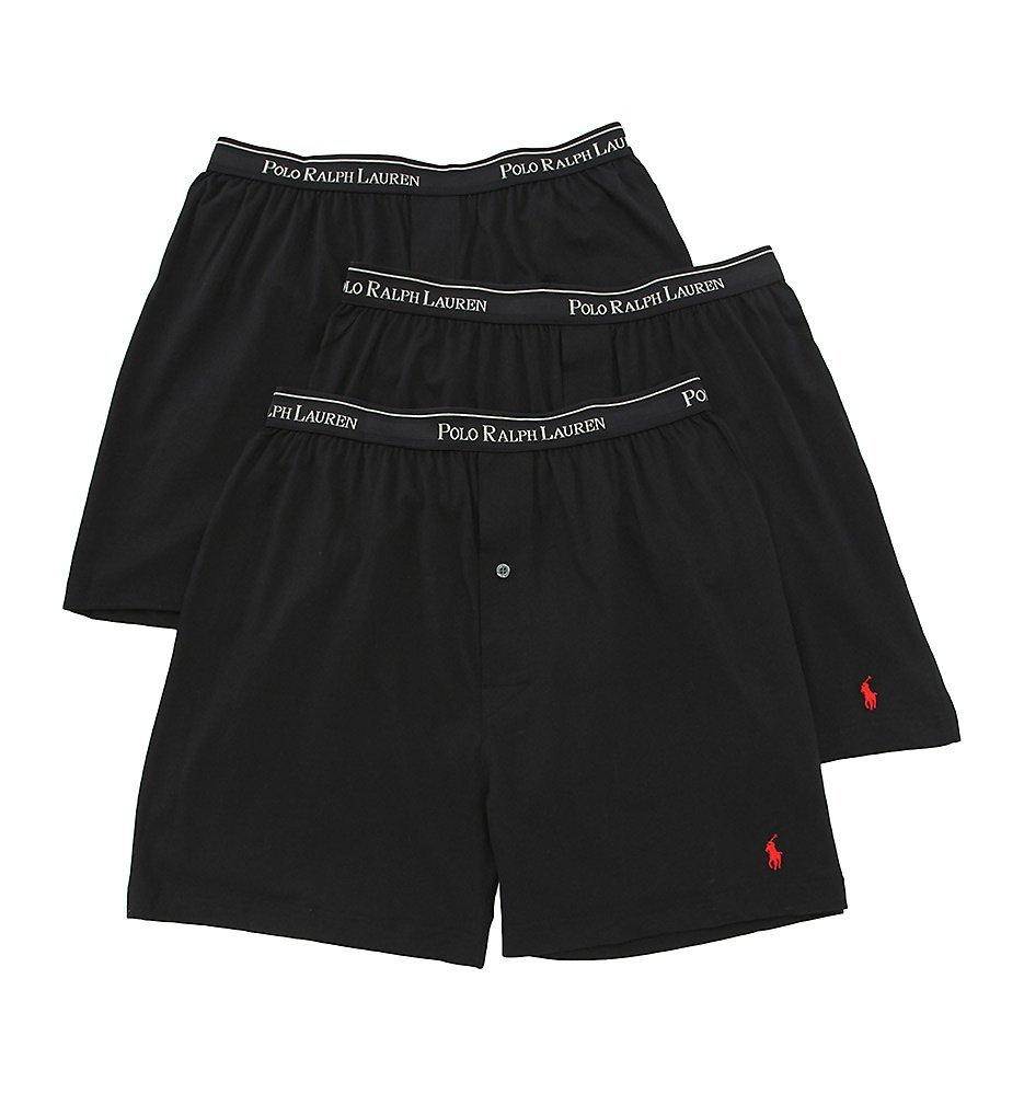Classic Cotton Knit Boxer 3-Pack,Black,Medium
